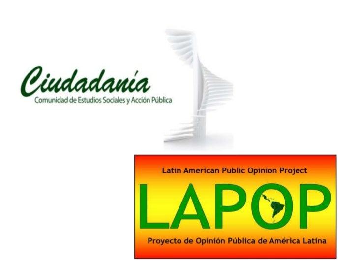 Cultura política de la democracia en            Bolivia, 2012:Hacia la igualdad de oportunidades  Ciudadanía, Comunidad de...