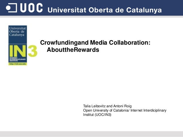 Crowdfunding and media collaboration: about the rewards