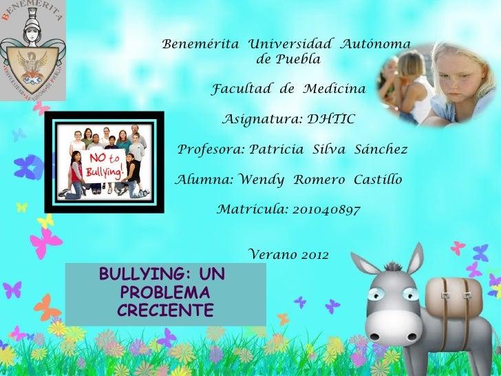 Benemérita Universidad Autónoma                 de Puebla            Facultad de Medicina                                ...