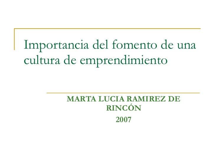 Presentacion CANCILLERIAE Senadora Marta Lucia R