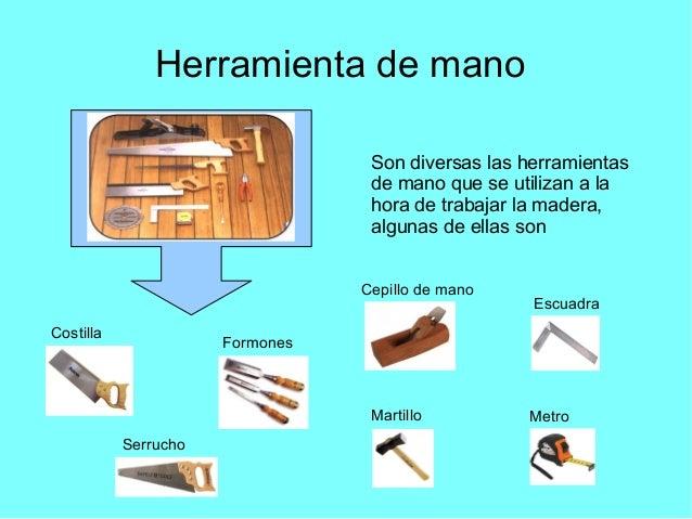 Herramientas de carpinter a - Herramientas de carpinteria nombres ...