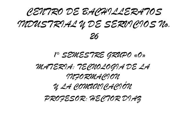 Presentacion  cbetis 26 tic