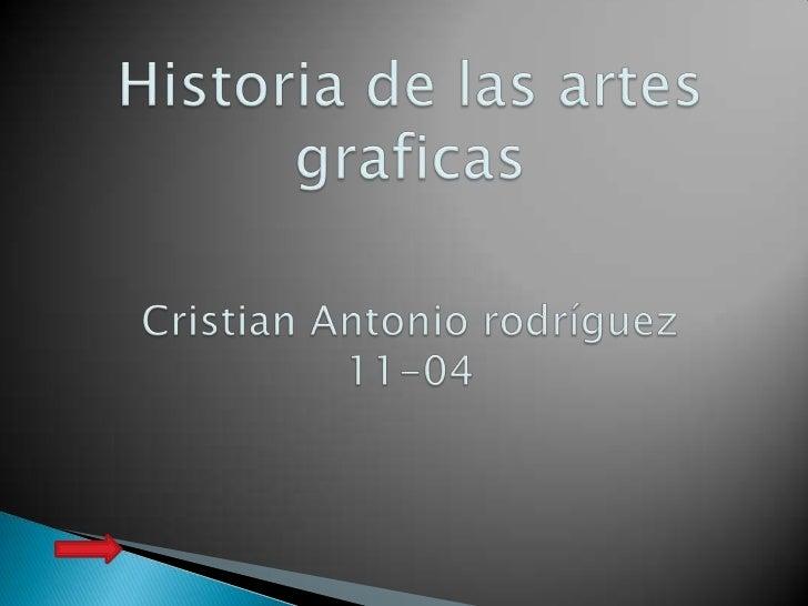 historia de las artes graficas