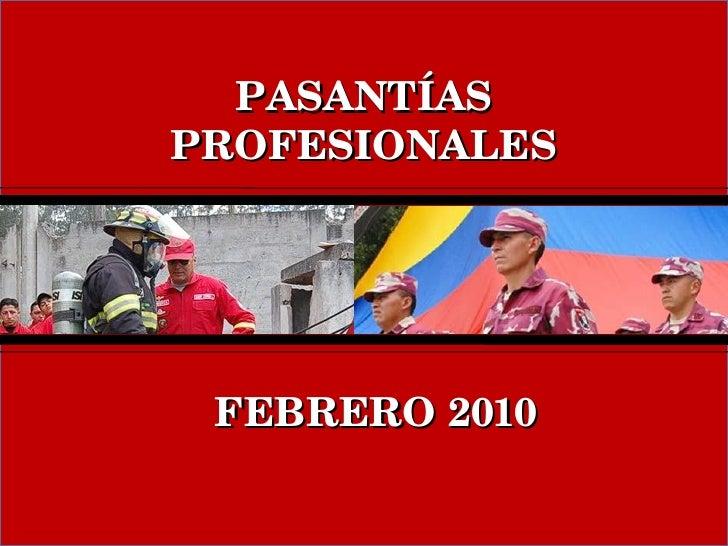 FEBRERO 2010 PASANTÍAS PROFESIONALES