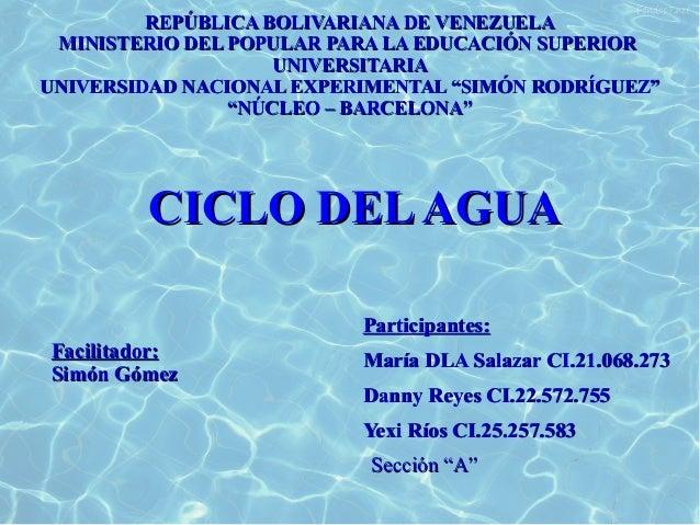 REPÚBLICA BOLIVARIANA DE VENEZUELAREPÚBLICA BOLIVARIANA DE VENEZUELA MINISTERIO DEL POPULAR PARA LA EDUCACIÓN SUPERIORMINI...