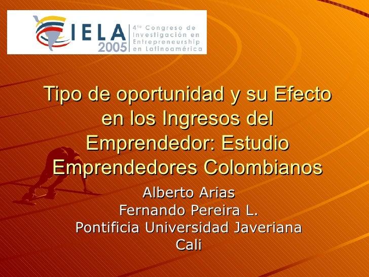 Arias Pereira 2005 Emprendedores por autorrenuncia