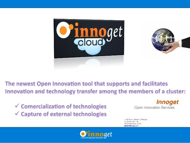 comcom echnology transfer The ClusterThe Cluster The worldThe world Companies Research institutions TTO' s Universities Sp...