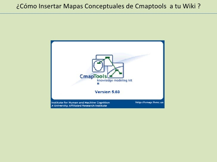 Insertar Mapas Conceptuales al Wiki