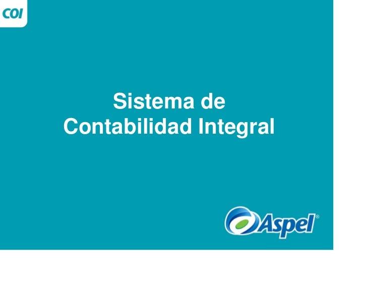 Sistema deContabilidad Integral