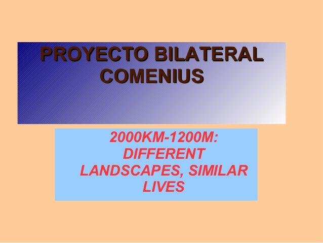 Bilateral Comenius Project