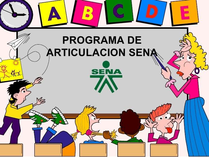 PROGRAMA DE ARTICULACION SENA