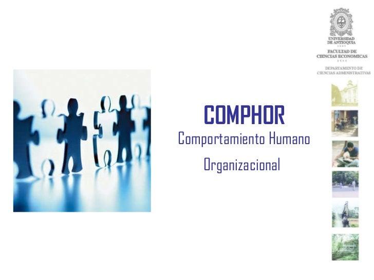 COMPHOR Comportamiento Humano Organizacional