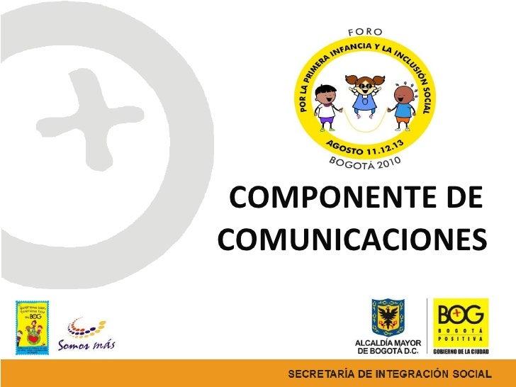 Presentacion comunicaciones foro primera infancia