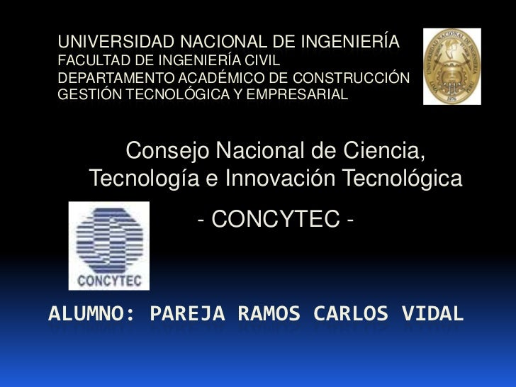Universidad nacional de ingenieríafacultad de ingeniería civildepartamento académico de construccióngestión tecnológica y ...