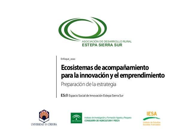 ASOCIACIÓN DE DESARROLLO RURAL  ESTEPA SIERRA SUR  Ecosistemas de acompañamiento para la innovación y el emprendimiento Pr...