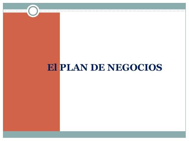 Presentacion contenido del plan de negocios rosalba mendez