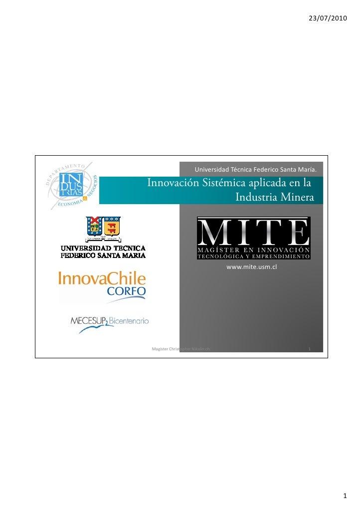 Innovación sistémica aplicada en la Industria Minera