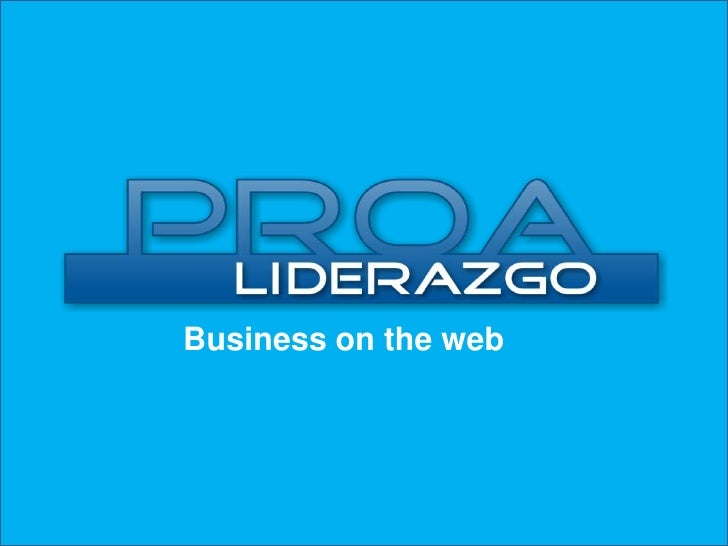 Business on the web