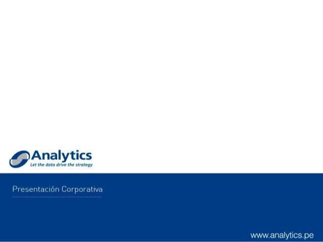 Presentación corporativa Analytics 2014