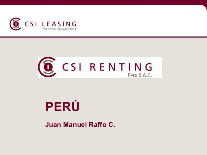 Presentacion CSI Leasing- Arrendamiento de Equipos de Tecnología