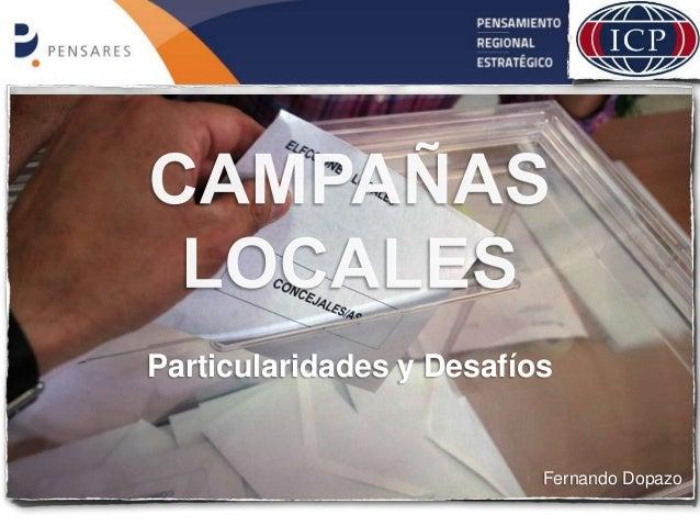 Particularidades y Desafíos Fernando Dopazo