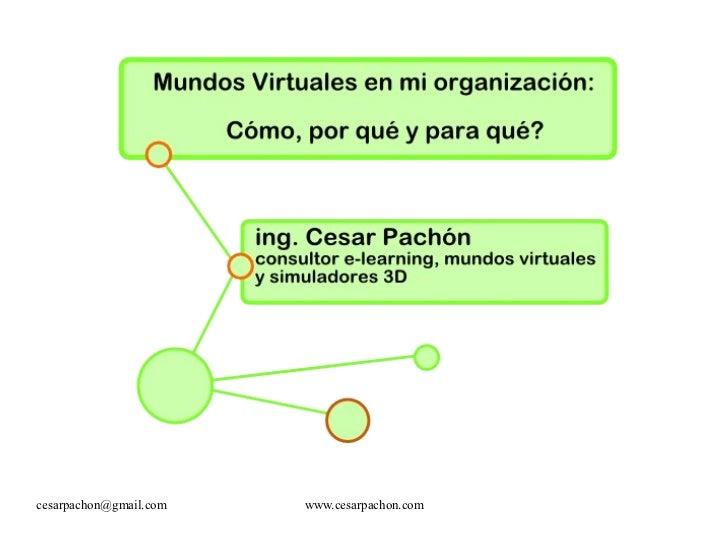 Mundos virtuales en la organización