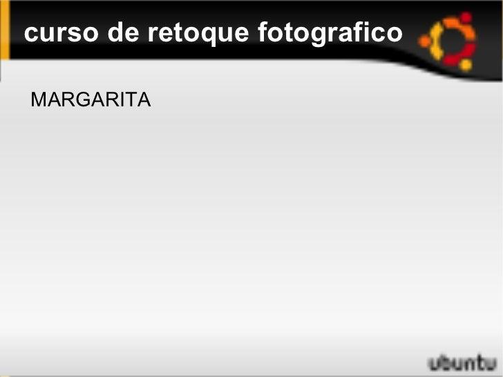 Presentacion curso foto