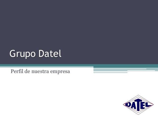 Grupo Datel Perfil de nuestra empresa