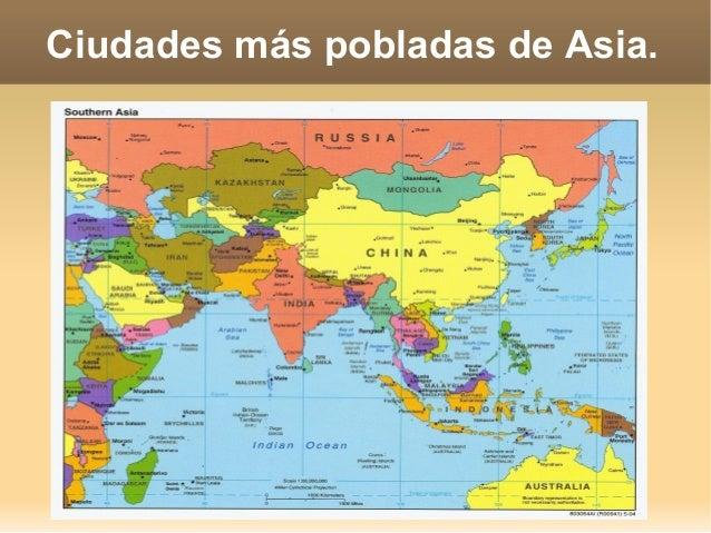 Ciudades más pobladas de Asia.