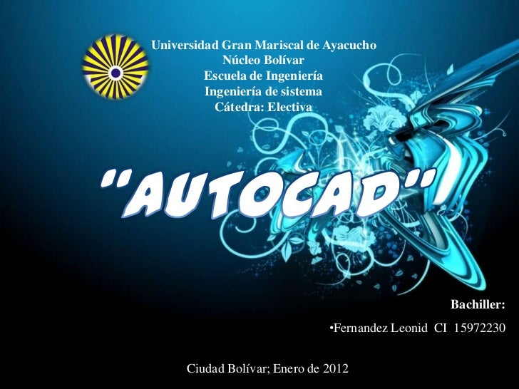 Universidad Gran Mariscal de Ayacucho            Núcleo Bolívar         Escuela de Ingeniería         Ingeniería de sistem...