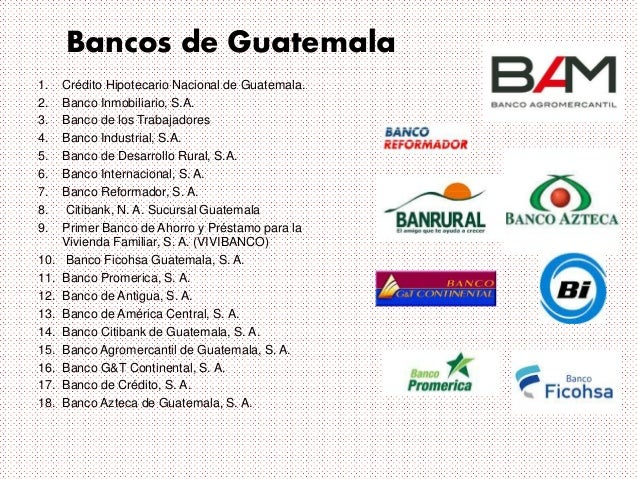Bancos Ahorro Guatemala Bancos de Guatemala 1