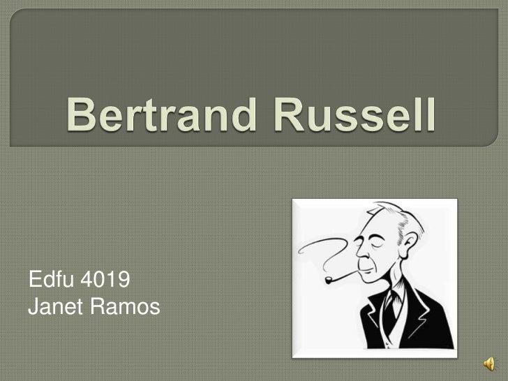 Presentacion de bertrand russell