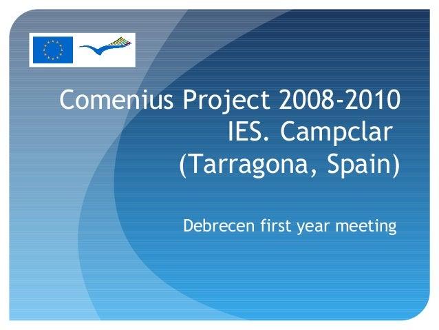 Comenius 2009-Presentación Debrecen