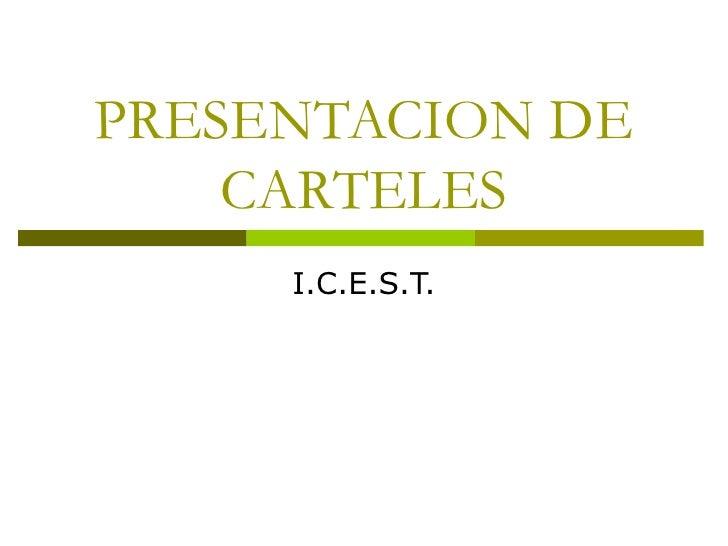 Presentacion De Carteles