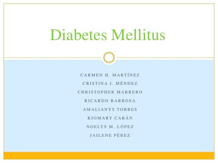 Presentacion de diabetes mellitus