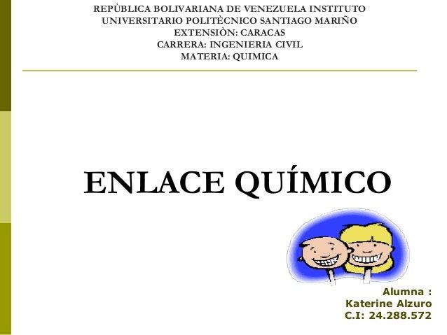 Presentacion de enlace quimico