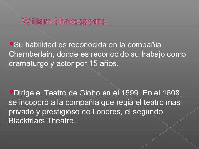 william shakespeare y el teatro en el renacimiento