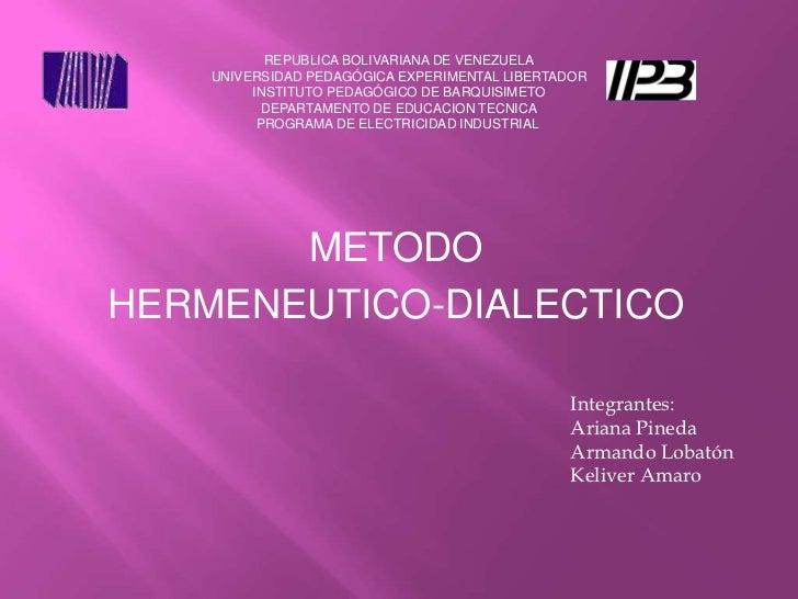 Presentacion de exposicion del metodo hermeneutico