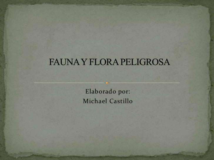 Elaborado por: <br />Michael Castillo<br />FAUNA Y FLORA PELIGROSA<br />
