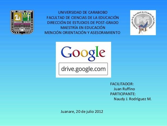 Presentacion de google drive
