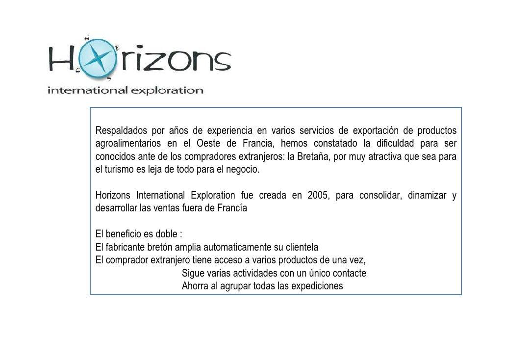 Presentacion De Horizons Ie