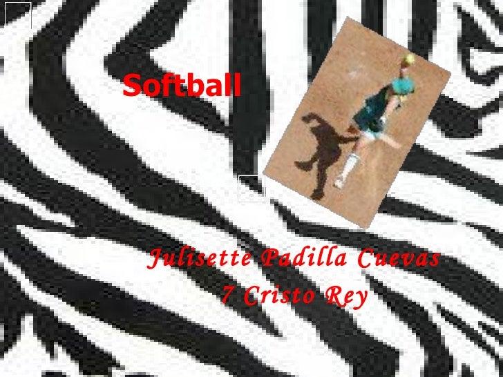 Softball Julisette   Padilla Cuevas 7 Cristo Rey