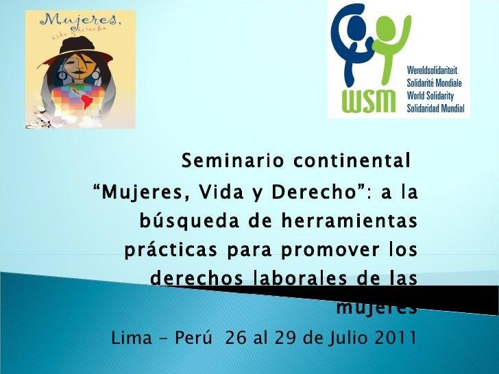 Presentacion de la campaña  seminario continental