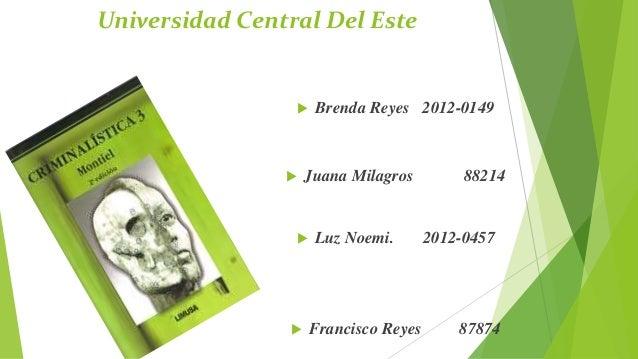 Presentacion de la criminalistica. profesor Geovanny Vicente Romero