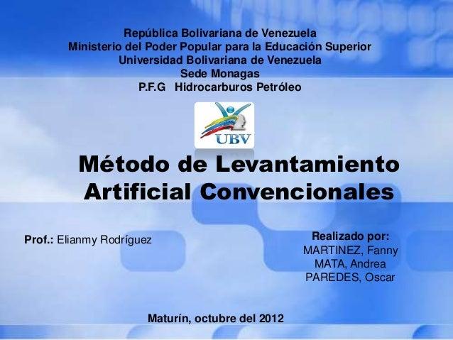 República Bolivariana de Venezuela        Ministerio del Poder Popular para la Educación Superior                 Universi...