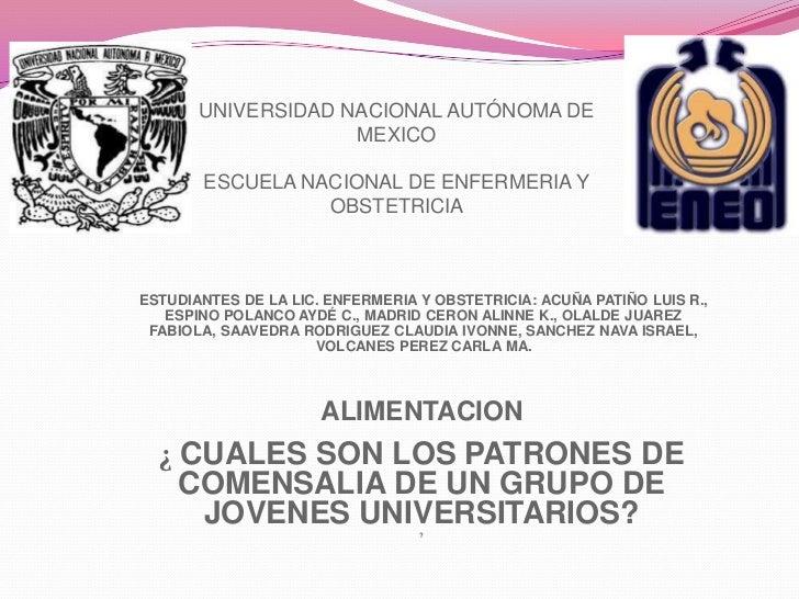 UNIVERSIDAD NACIONAL AUTÓNOMA DE                    MEXICO       ESCUELA NACIONAL DE ENFERMERIA Y                 OBSTETRI...