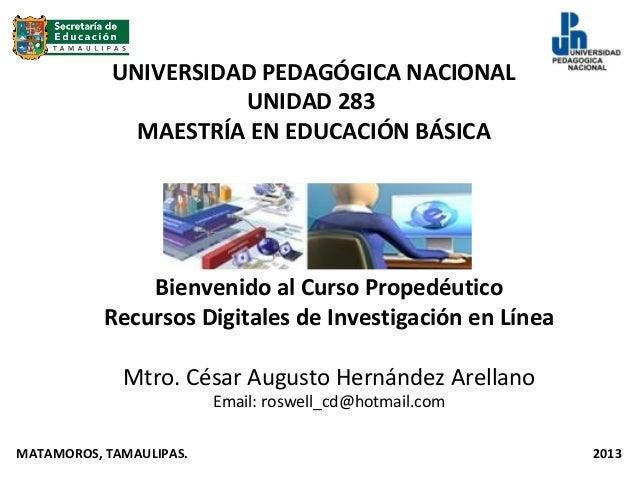 Presentacion del curso propedeutico