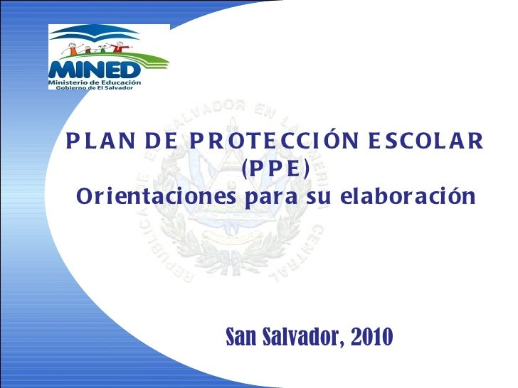 Presentacion del plan de proteccion escolar
