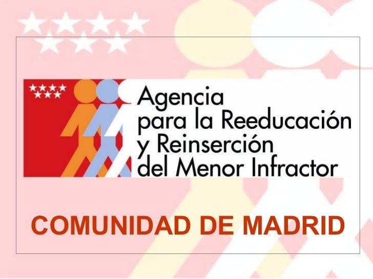 Presentacion de Luis Gonzalez, Jefe de Estudios, Agencia de Reeducacion y Reinserción del menor de Madrid