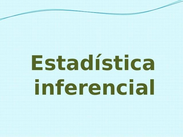 Estadística inferencial